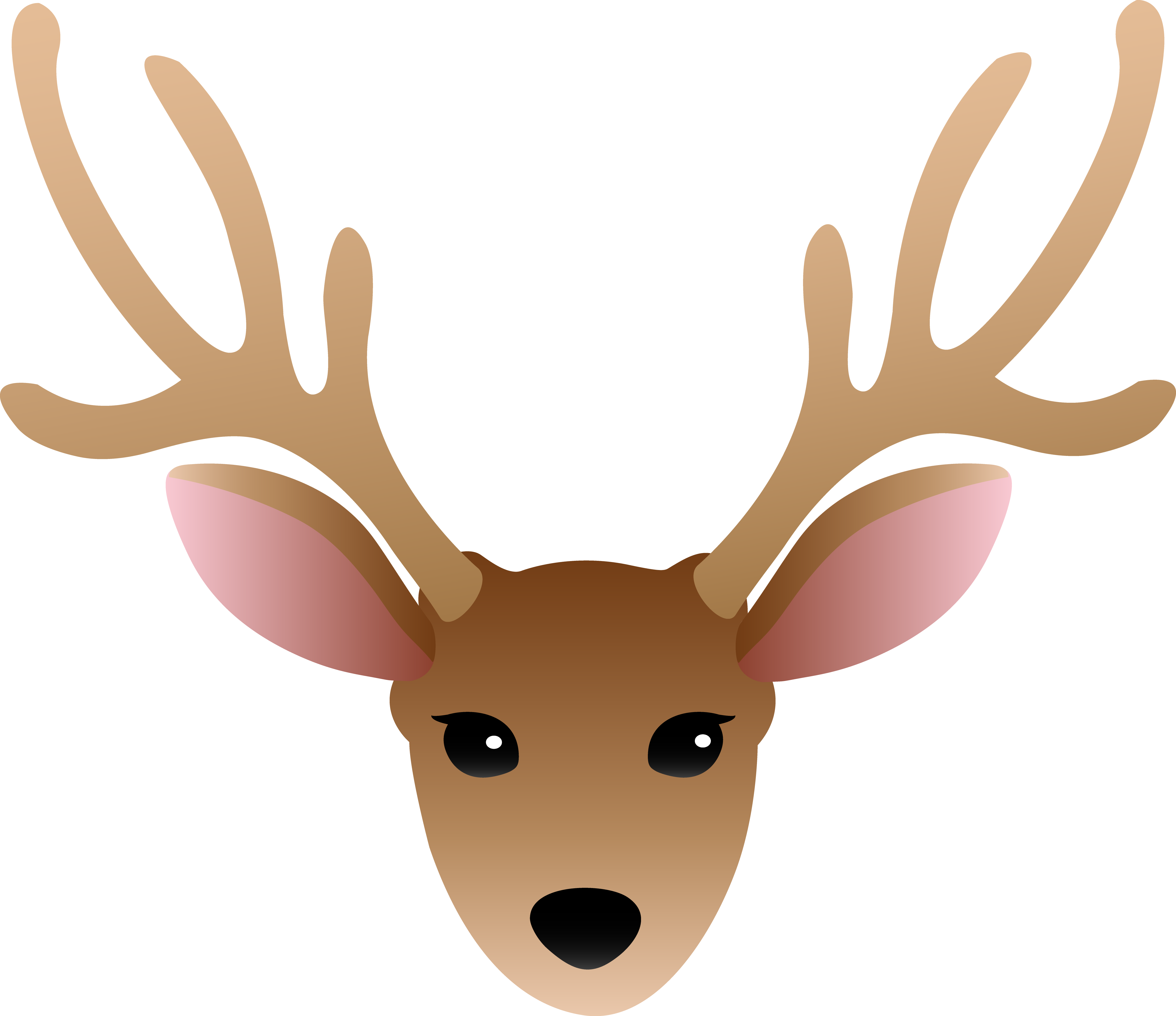Cartoon Deer Head Clipart free image.