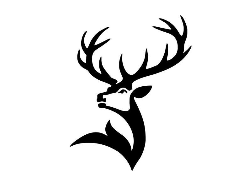 Deer SVG File / Deer Head SVG / Deer Clipart / Deer Head Clipart / Deer  Vector / Deer Antlers / Hunting Files / Deer svg design / Silhouette.