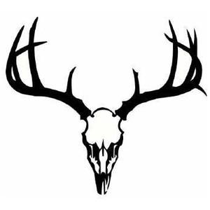 Deer Head Silhouette Clip.