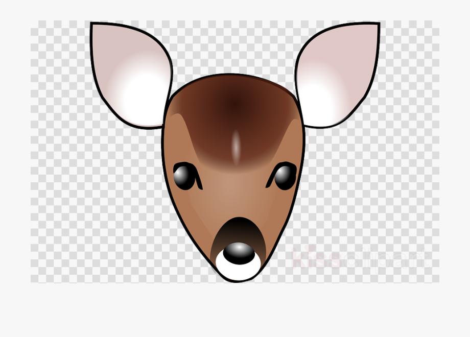 Cartoon Deer Head Clipart White.