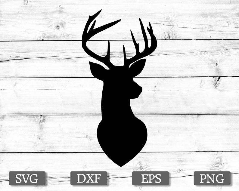 Deer SVG, Deer Head SVG, Deer Clipart, Deer Head Clipart, Deer Vector,  Hunting SVG Files, Svg Files for Cricut, Silhouette.