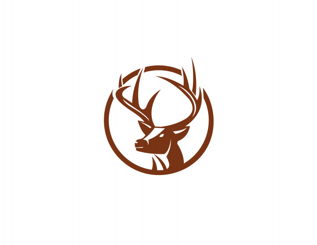 Deer head logo and icon element Vector.