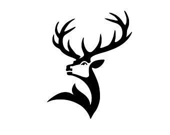 Deer head silhouette.