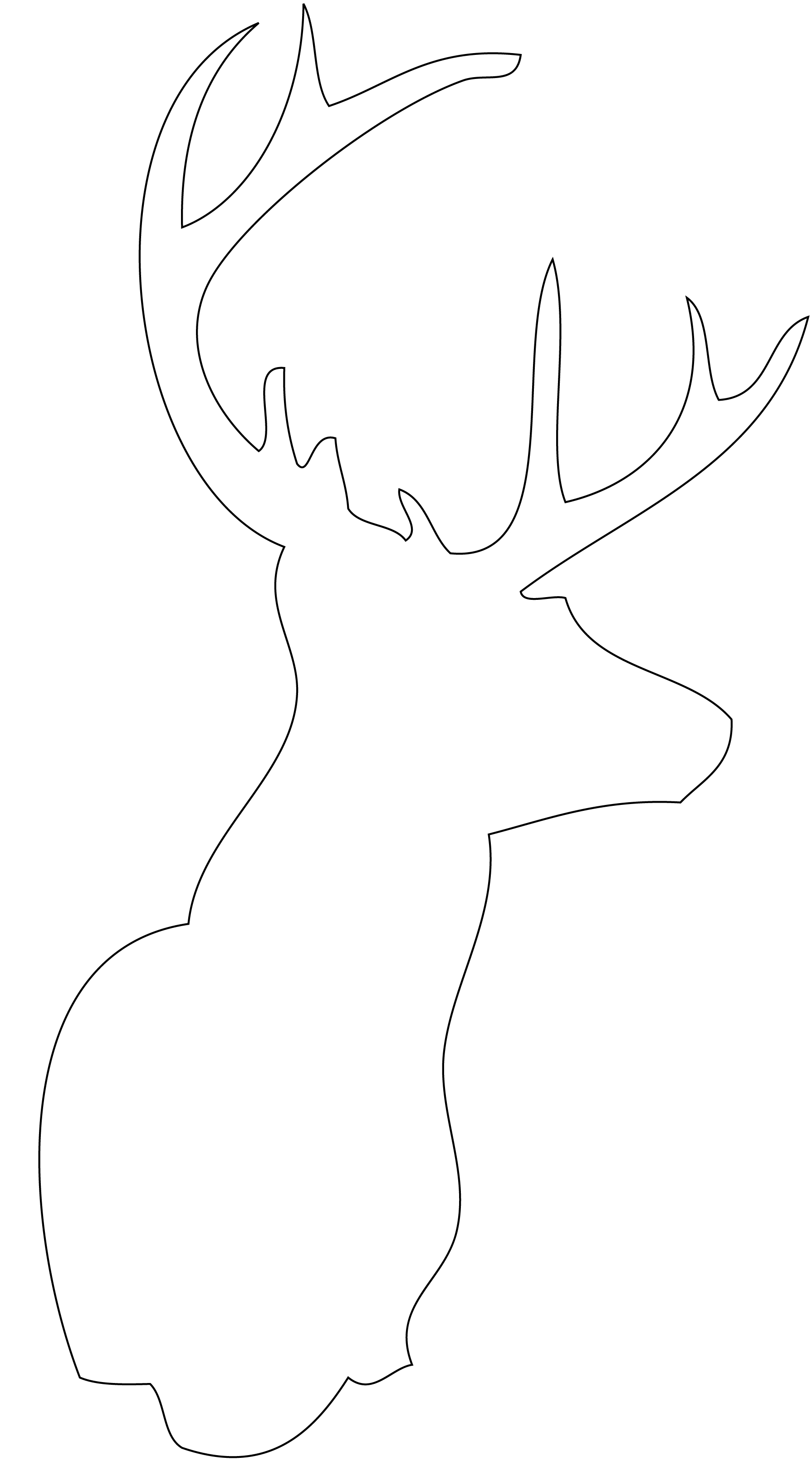 Deer Head Outline Drawing at PaintingValley.com.