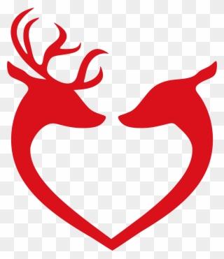 Deer Head Outline Clipart.