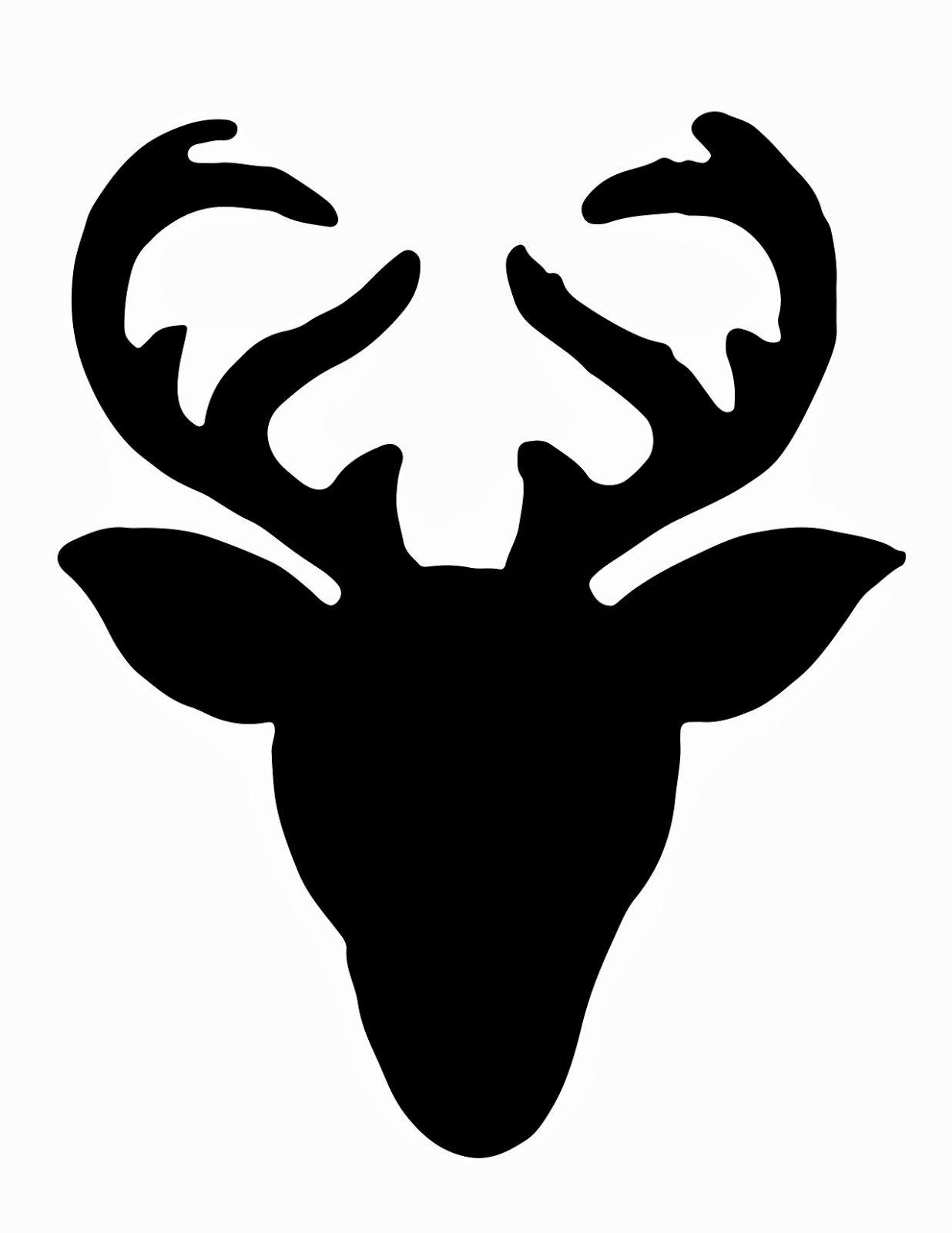 Reindeer Head Silhouette.