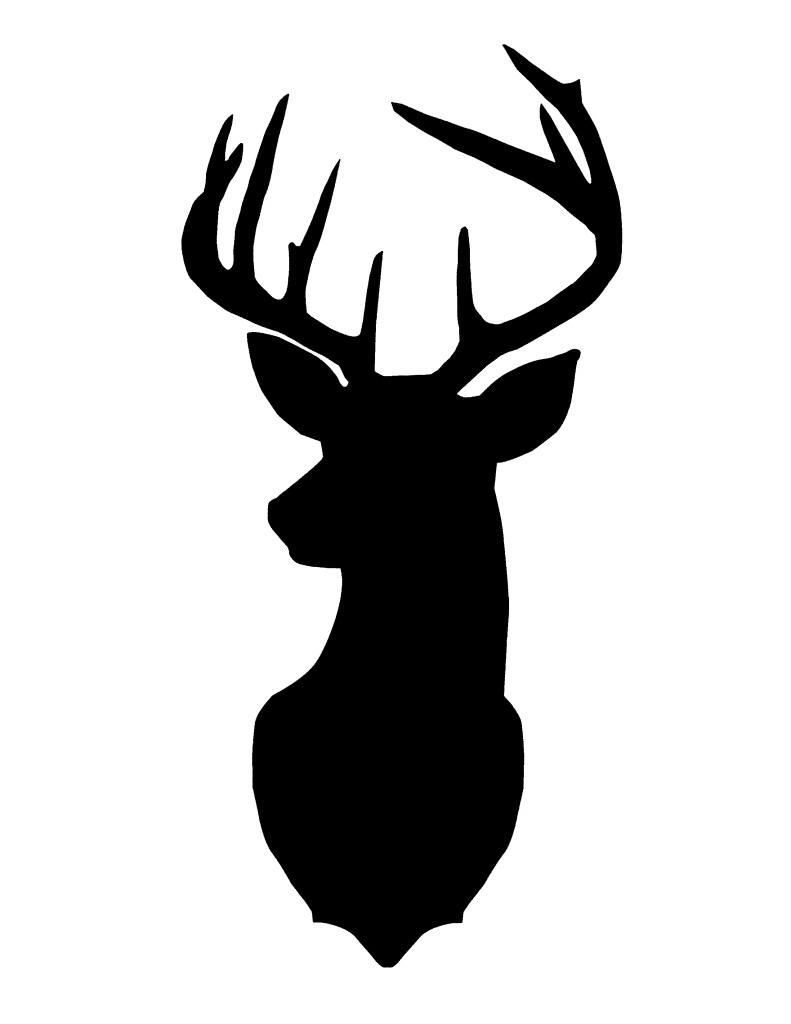 Best HD Deer Head Silhouette Image.