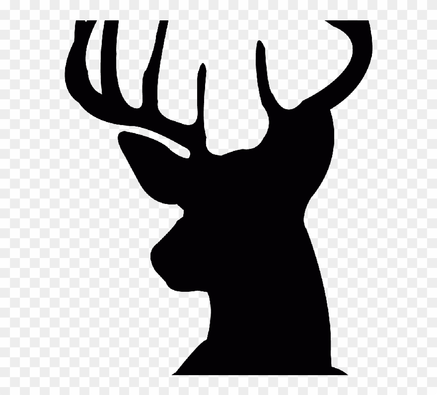 Free Deer Head Silhouette, Download Free Clip Art,.