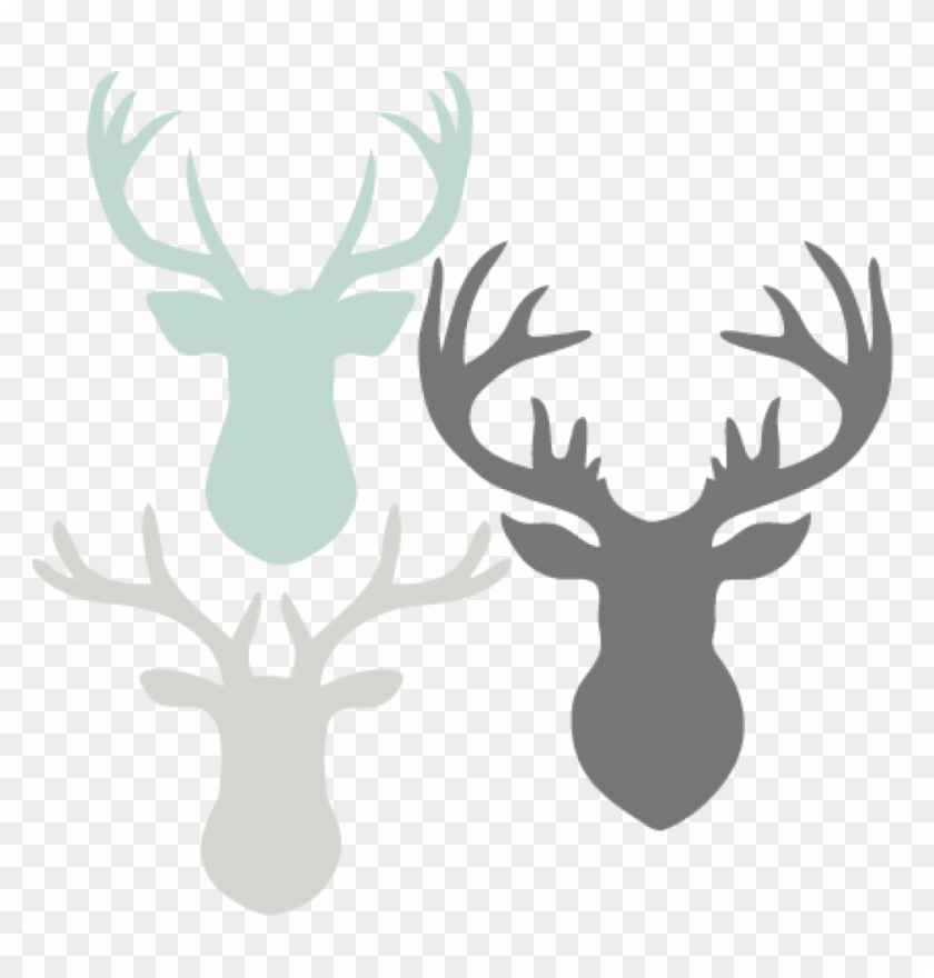 Deer Head Clipart Deer Head Set Svg Scrapbook Cut File.