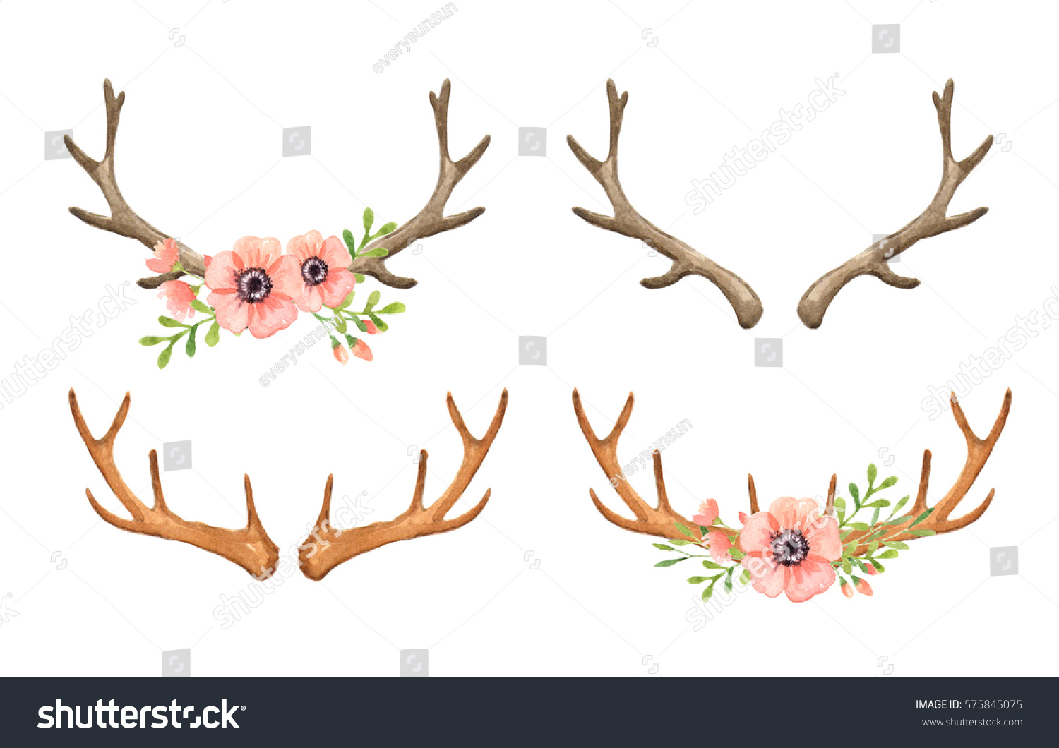 Deer Horns Clipart (96+ images in Collection) Page 3.