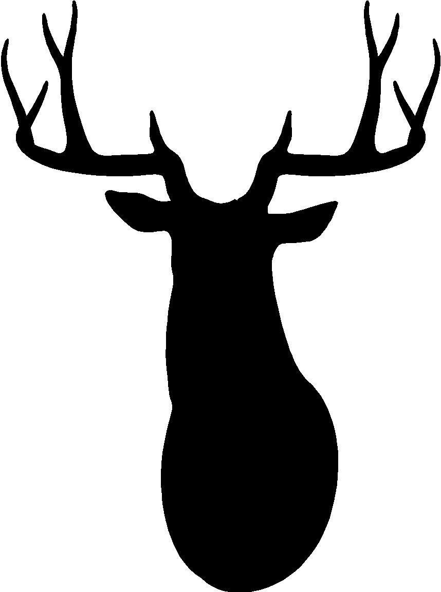 Deer Head Silhouette Clip Art & Deer Head Silhouette Clip Art Clip.