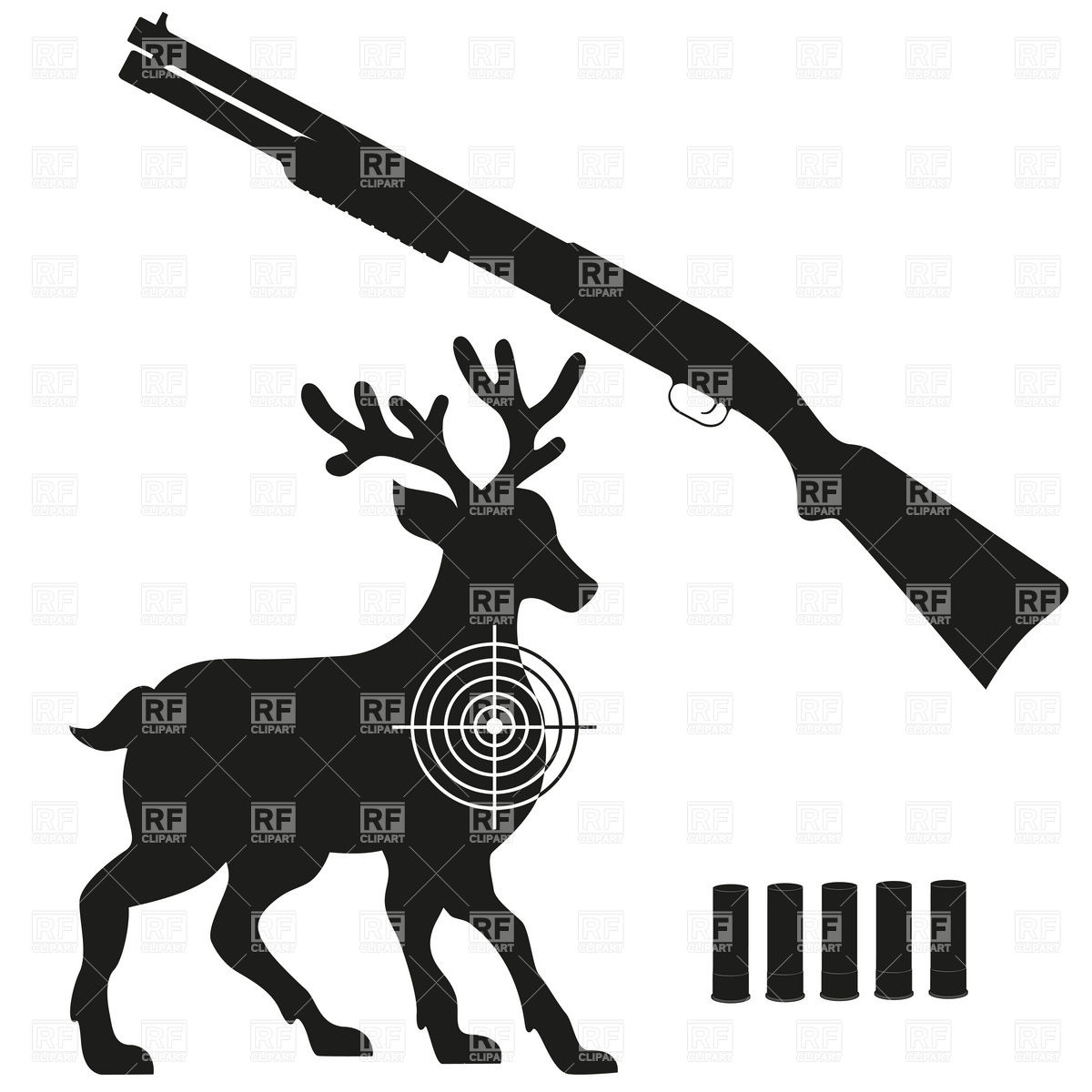 Deer Hunter Silhouette Clipart Clipground
