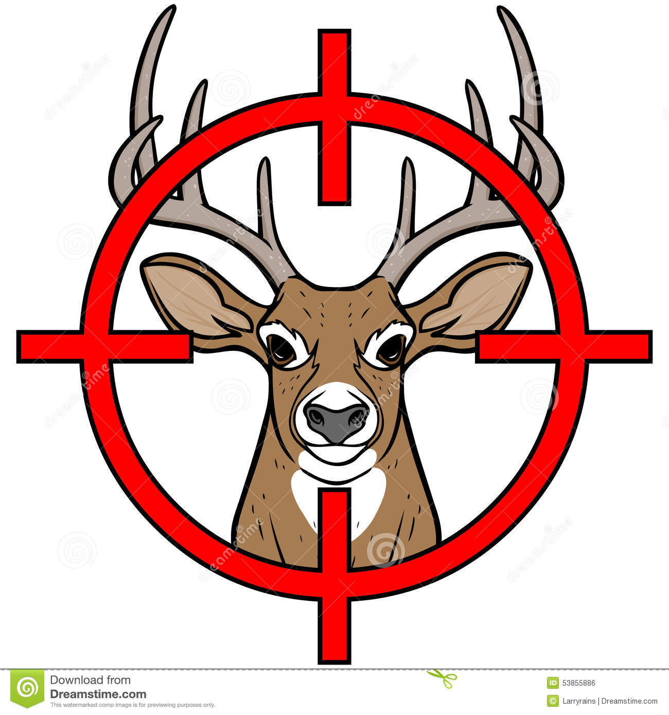 Clipart deer hunting.