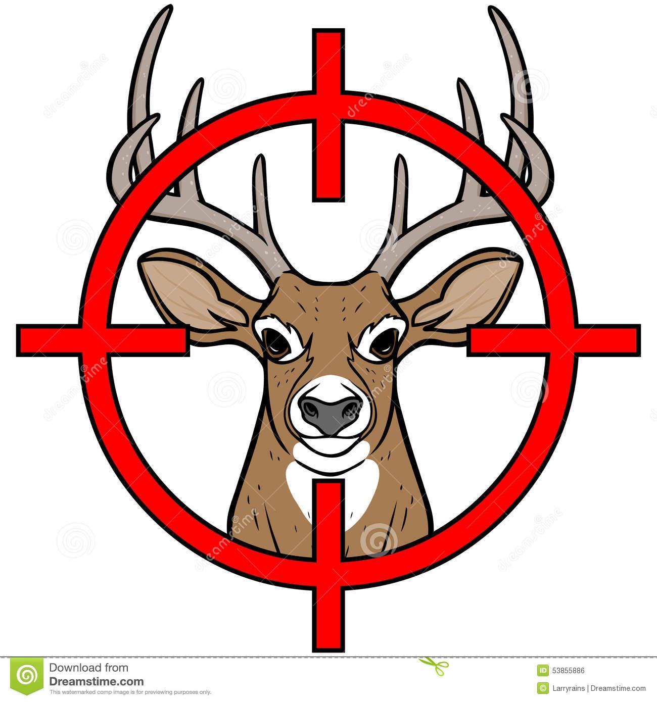 Clipart deer hunting.