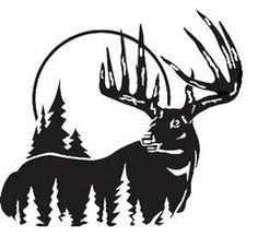 Deer Hunting Silhouettes, Vectors, Clipart, Svg, Templates.