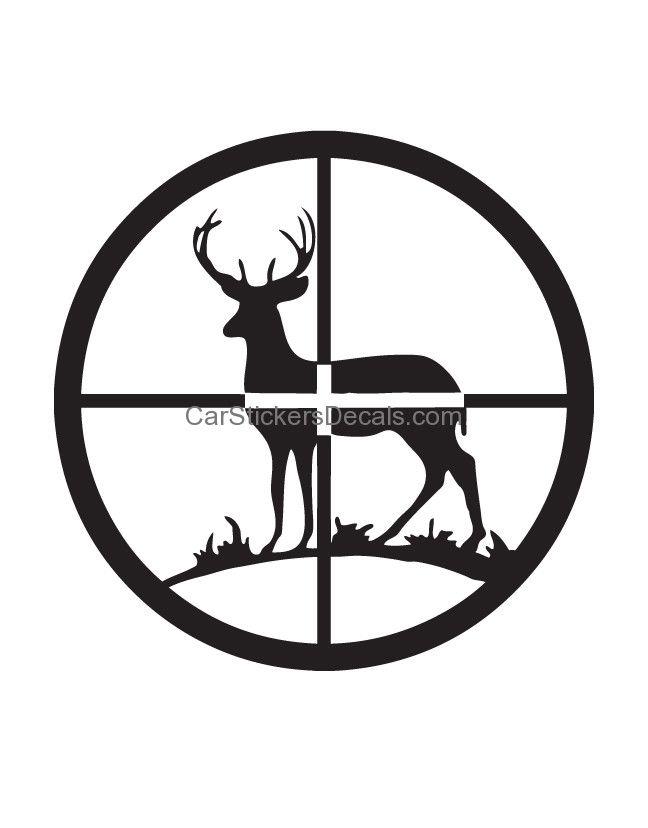 Deer in Crosshair Sticker.