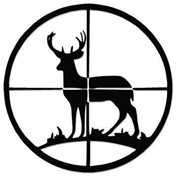Deer Buck Hunting Crosshairs Target Vinyl Decal Sticker For Vehicle Car  Truck Window Bumper Wall Decor.