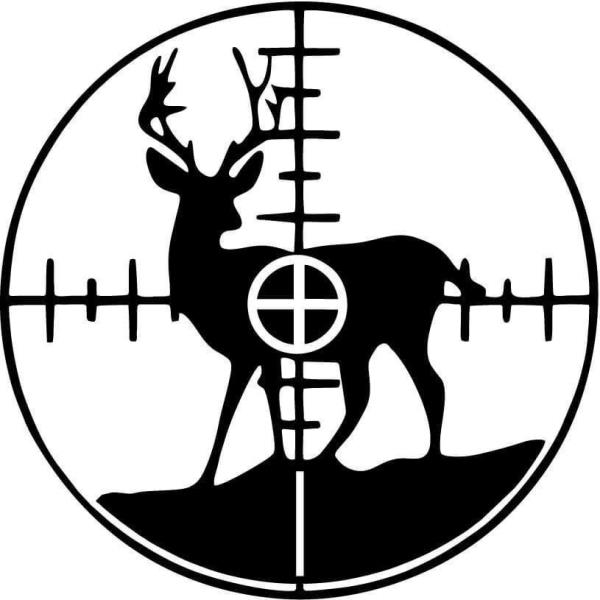 Details about Deer in Crosshairs Vinyl Car Window Laptop Decal Sticker.