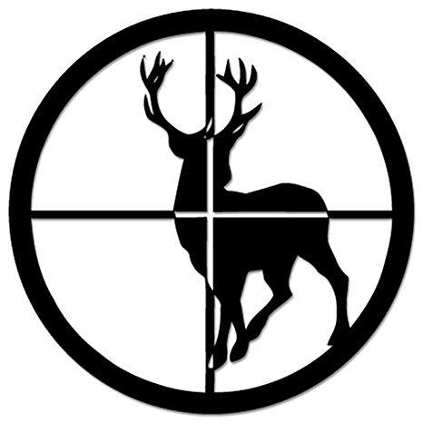 Amazon.com: Deer Buck Hunting Sniper Crosshairs Vinyl Decal.