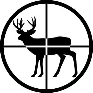 Details about Buck Crosshairs Decal Window Bumper Sticker Car Decor Deer  Hunter Hunting Sights.