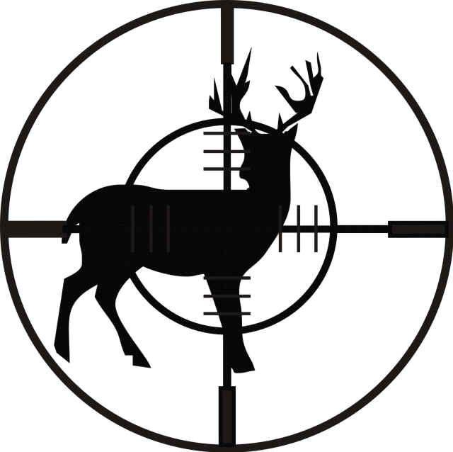 Deer in Crosshairs Graphic.