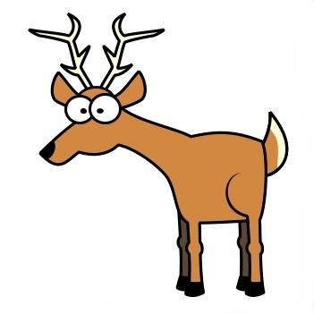 Deer In Headlights Clipart.