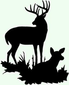 buck and doe clip art.