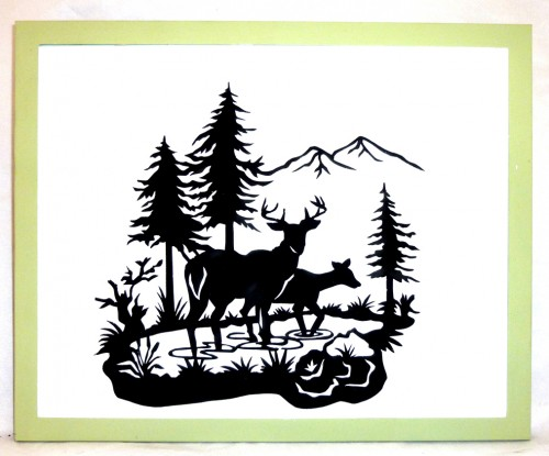 Printable Deer Graphic Deer Silhouettes Digital Image Download.