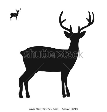 Deer Silhouette Stock Photos, Royalty.