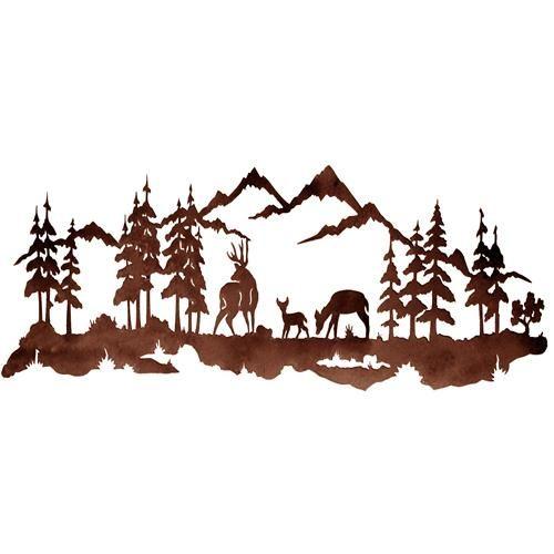 Deer mountain clipart #7