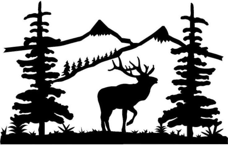 Clipart on deer silhouette clip art and mountain goats.