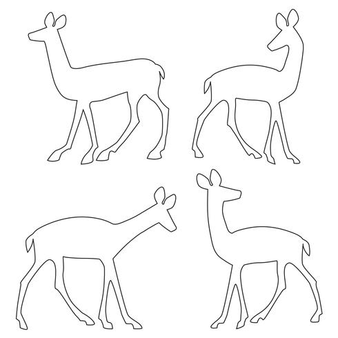 deer outline silhouettes.