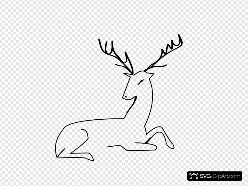 Deer Outline Clip art, Icon and SVG.