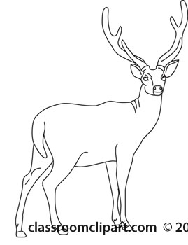 Deer Clipart Outline.