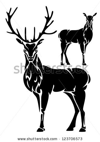 Deer Head Clipart Black And White.