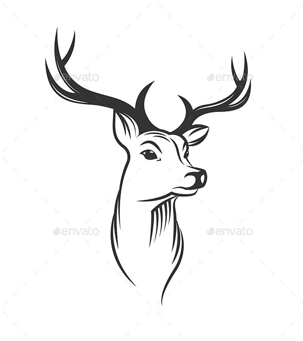 Deer Head PNG Black And White Transparent Deer Head Black And White.