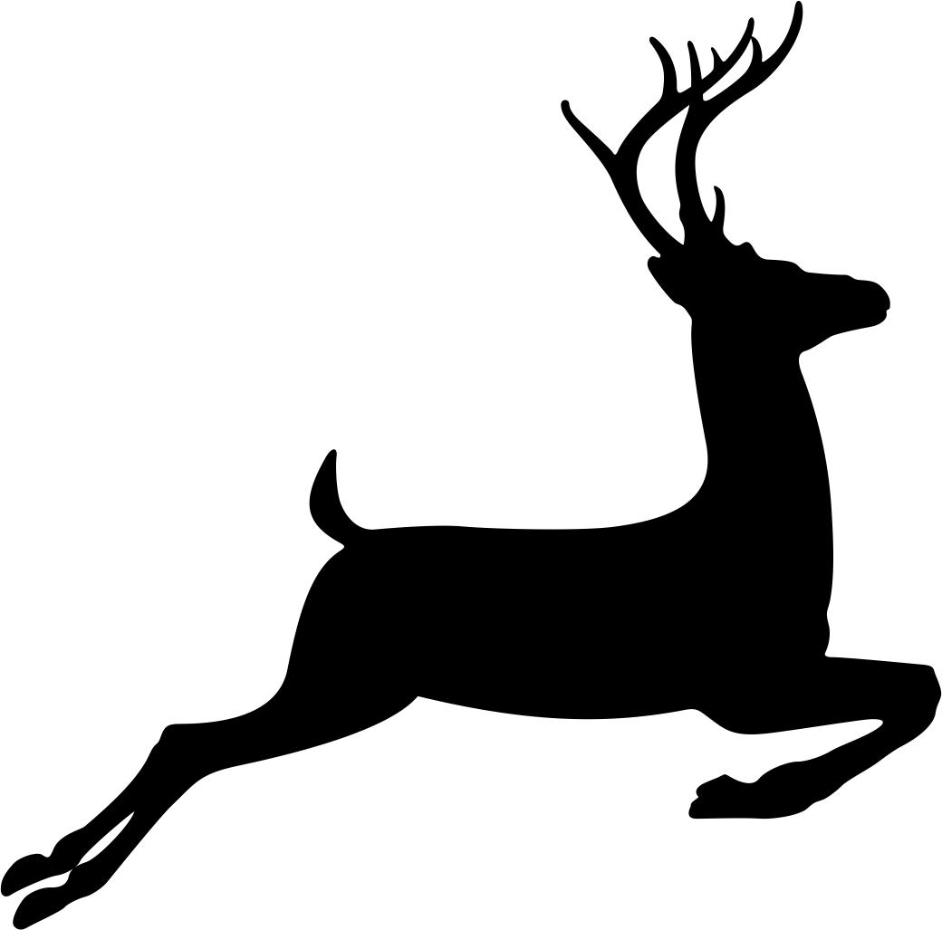 Running Deer Stencil Vector Free Vector #70486.