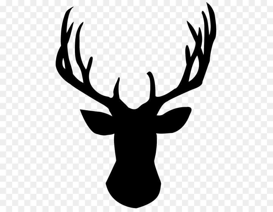 Reindeer Silhouette Clip art Vector graphics.