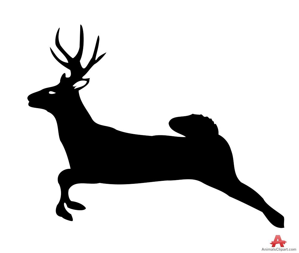 Running Deer Silhouette.