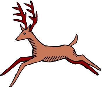 Deer Running Away Clipart.