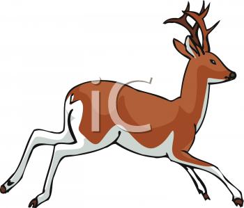 Running deer clipart.