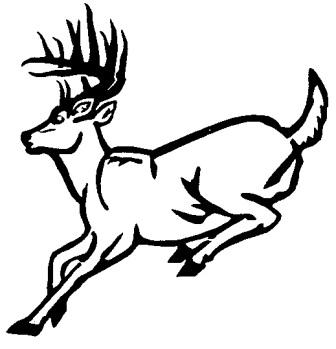 Deer running clipart.