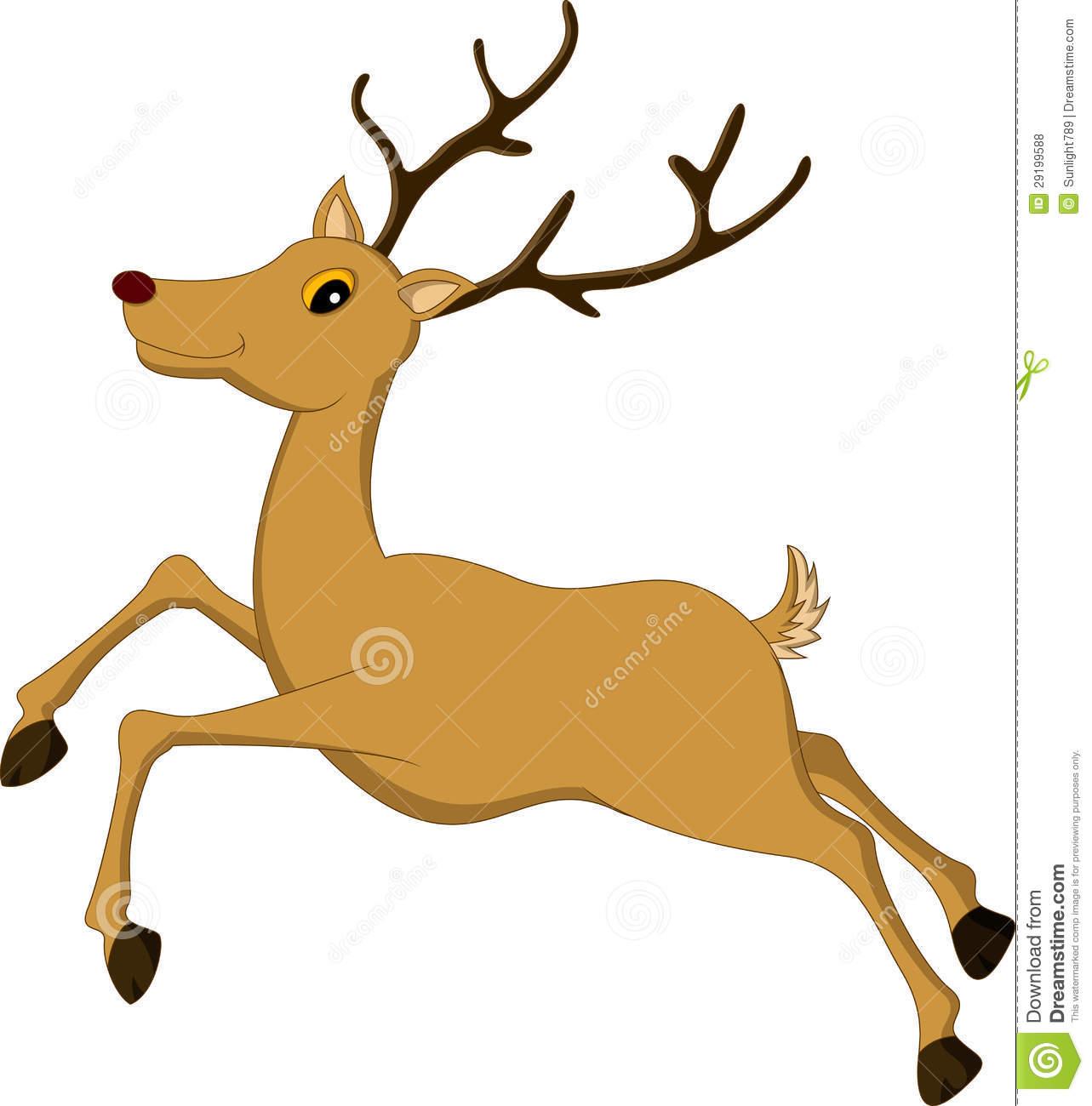 Deer running clipart.