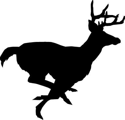 Clipart of a dog running deer.