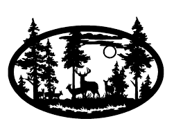 Deer Scene Clipart Clipground