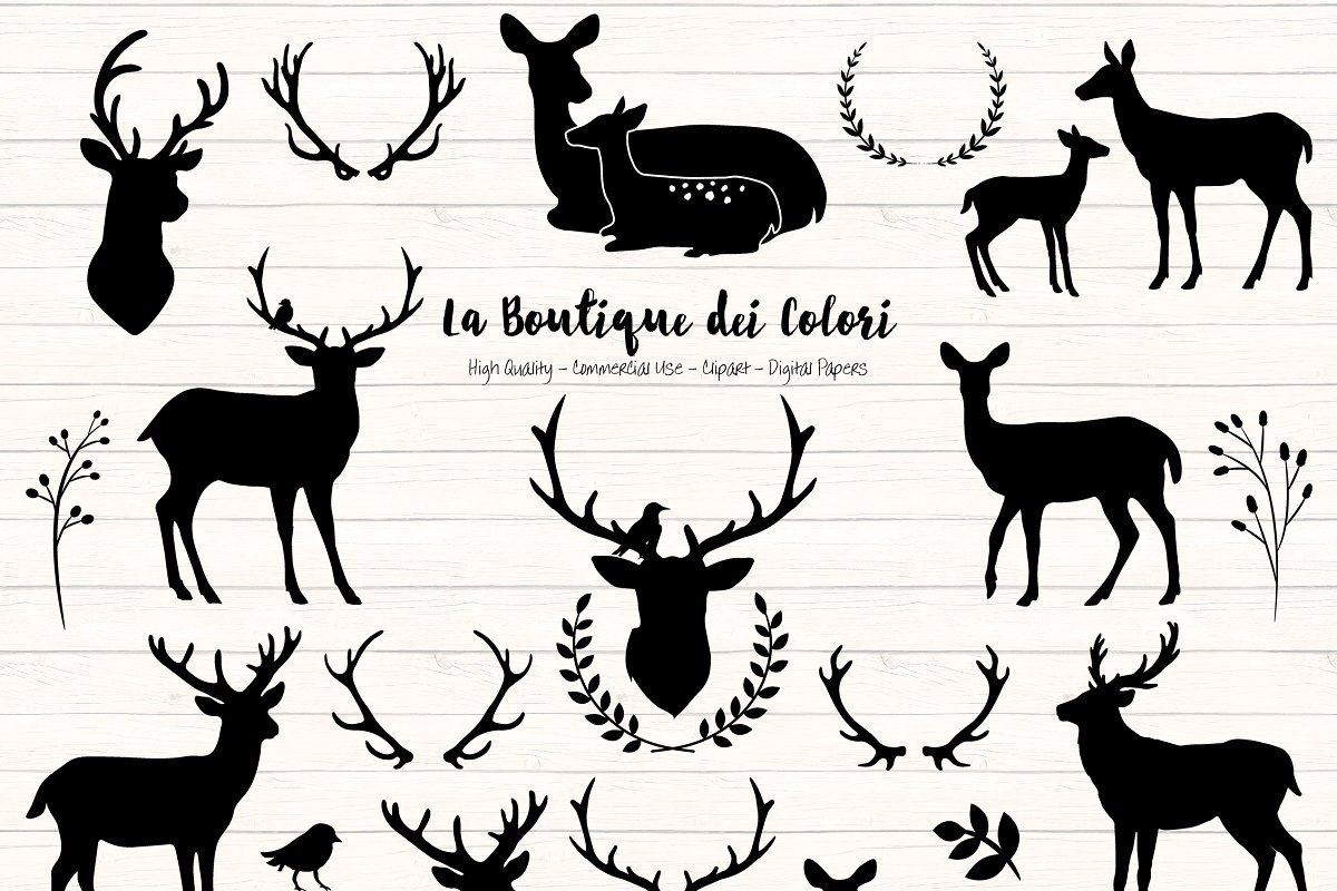 Deer Silhouette Clipart.