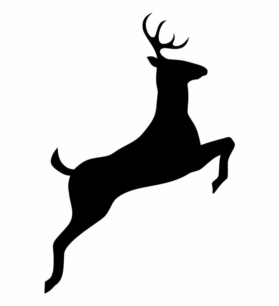 Leaping Deer Silhouette.