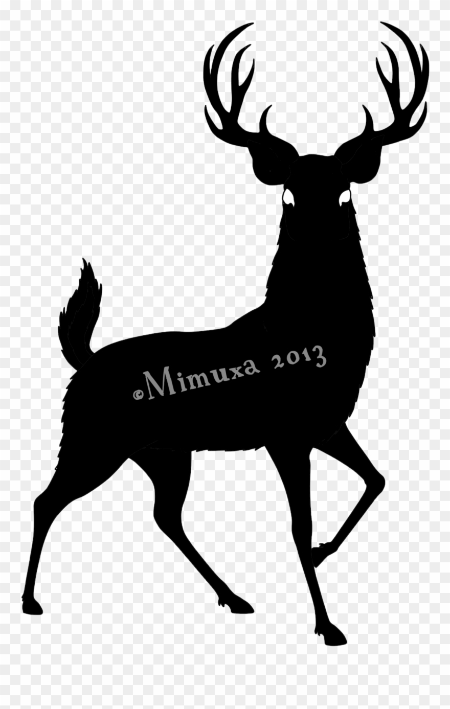 Deer Silhouette Clipart (#253516).