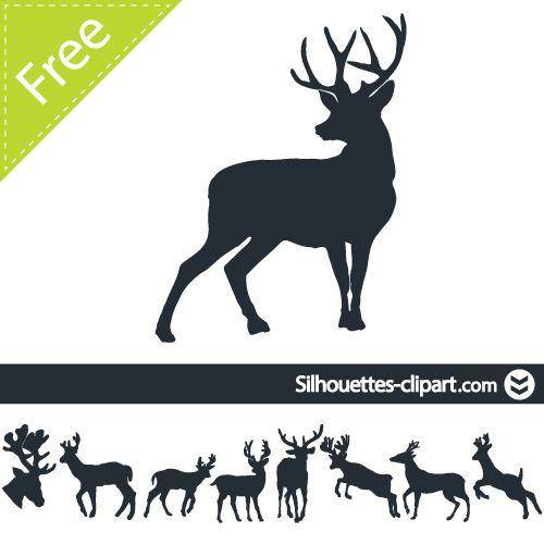 Deer vector silhouette.