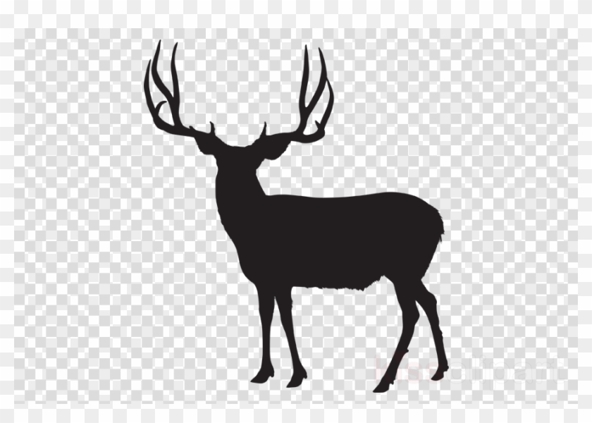 Download Mule Deer Silhouette Clipart White.